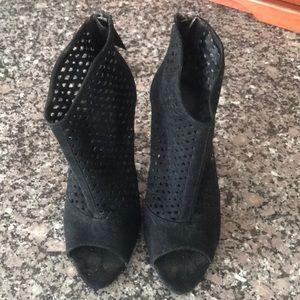 Zara open toed booties